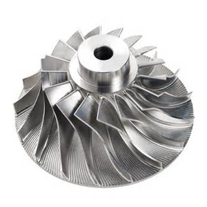 Custom 5 Axis Machined Aluminum Turbo Impeller Water Pump Impeller alloy electric motor impeller