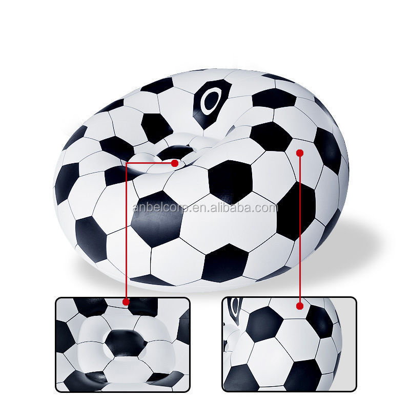 Anbel Inflatable Sofa Chair Couch Bean Bag Soccer Ball Football