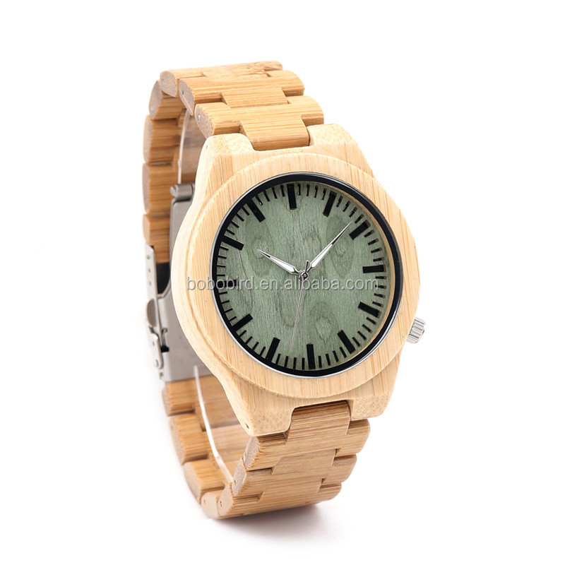 All Handmade Bamboo Luxury Quartz Men Watches Custom wrist watch Bobo Bird In Shenzhen Factory
