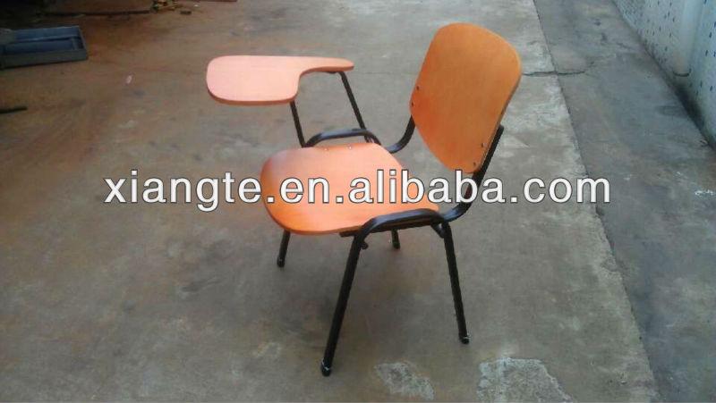 Krachtige en elegante houten kleuterschrijfdans stoel met metalen frame school stoel met - Kantoor houten school ...