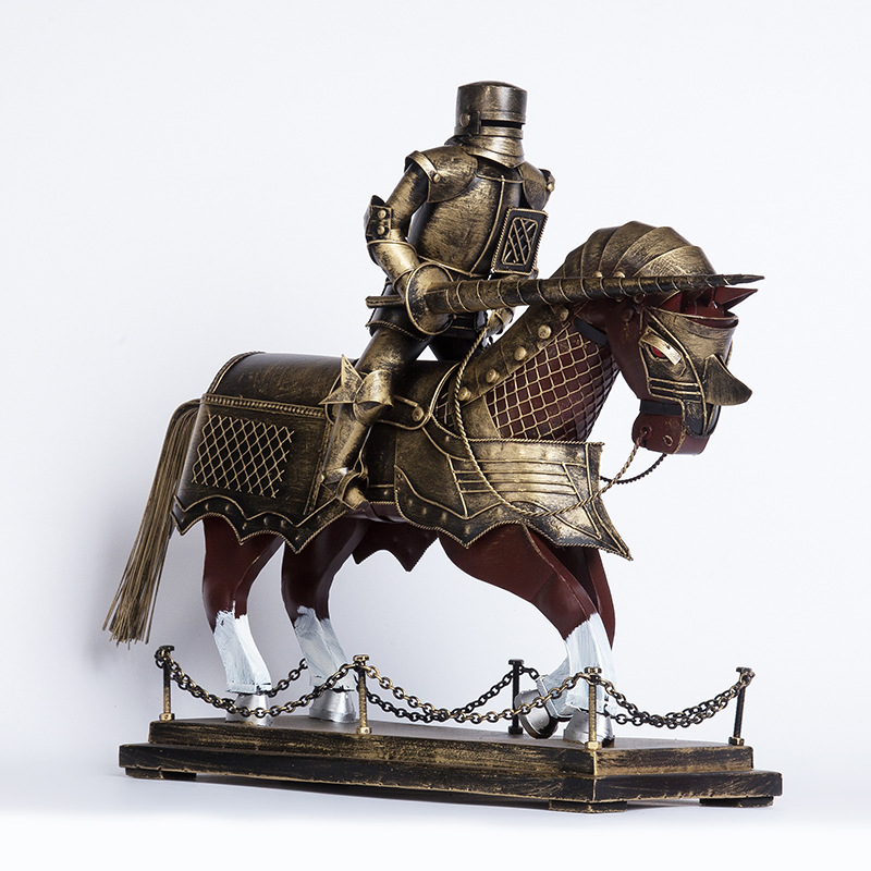 decorative medieval roman knight armor on horse WM3008