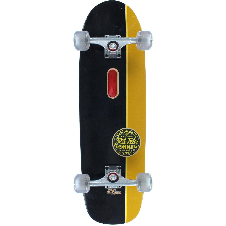 "Sector 9 Tudor Pro Black / Gold Complete Skateboard - 9.12"" x 32.5"""