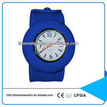 Hot sale chinese waterproof quartz silicone slap wrap watch for children