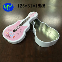 Cute Guitar Shape EmptyTin Cans For Candy Chocolate