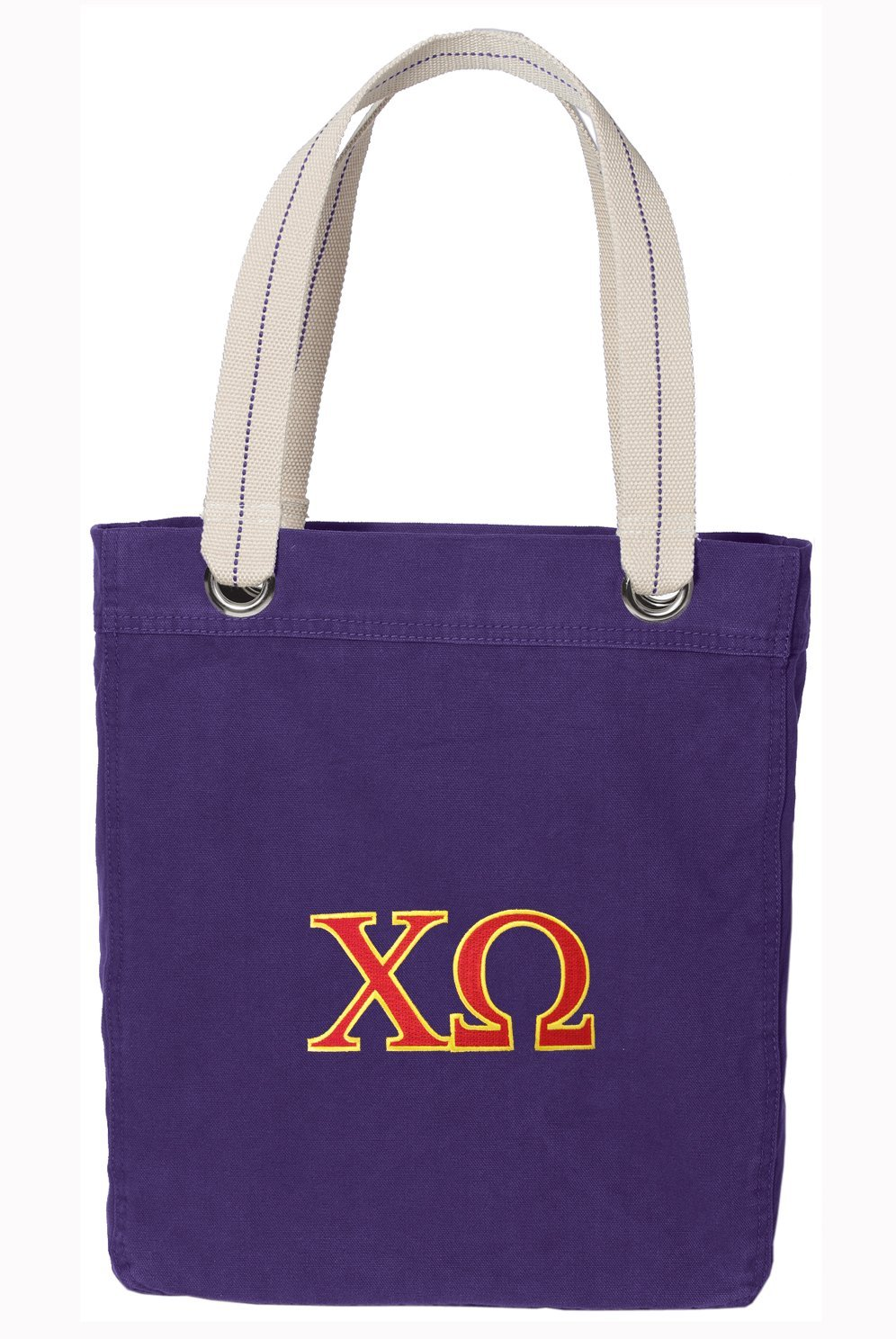 Chi Omega Tote Bag Sorority Shopping or Travel Bags