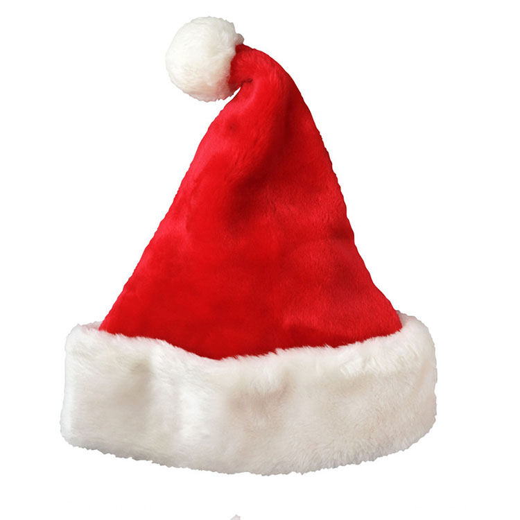 High End Thickened Plush Wool Felt Santa Clause Christmas Hat For Party Deco