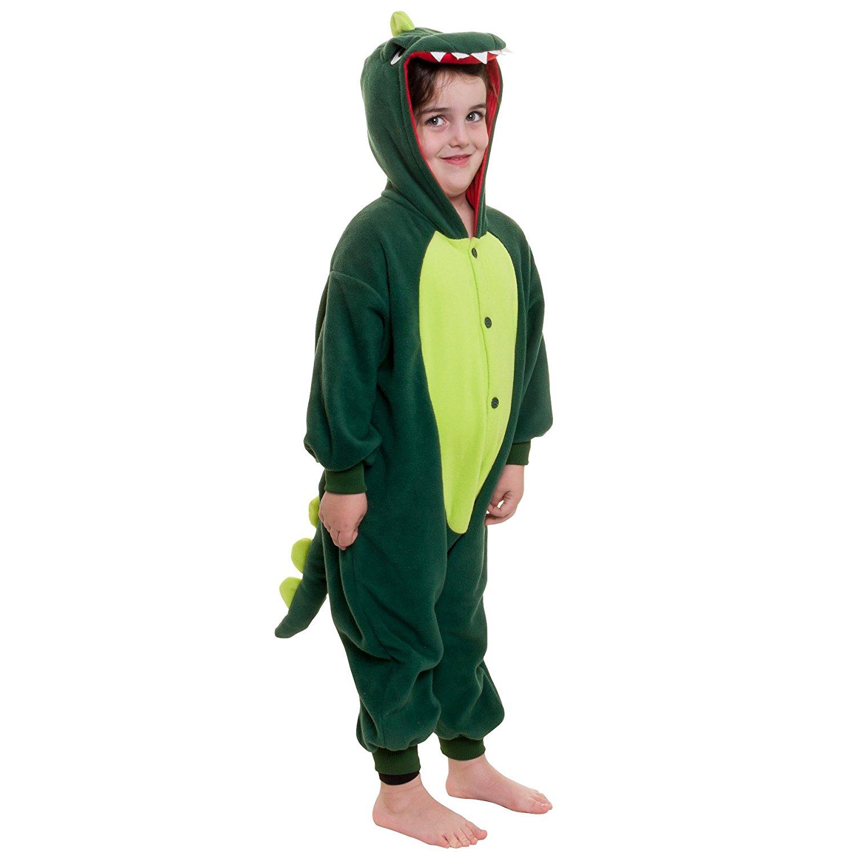 dd8cb25cd0 Get Quotations · Silver Lilly Kids Dinosaur Animal Costume - Childrens Plush  One Piece Pajamas
