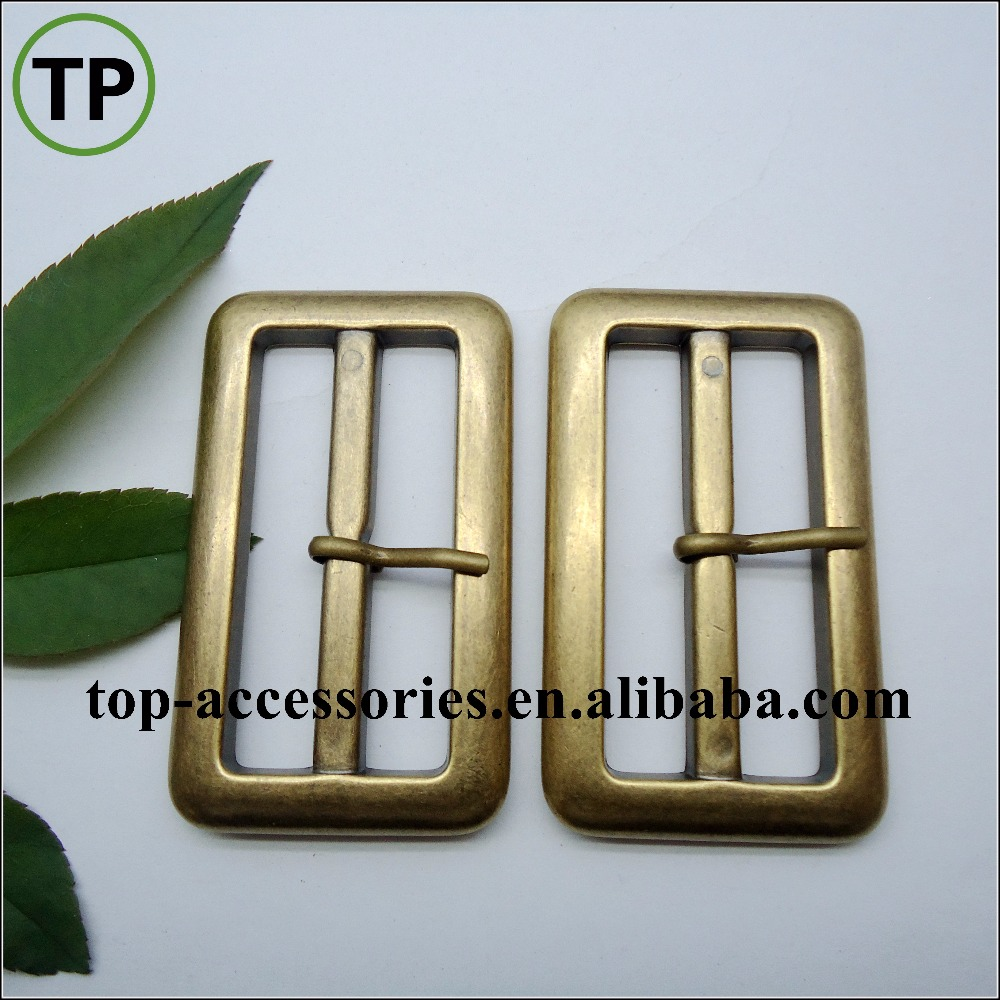 Manufacturer ABS plating old gold plastic belt buckle/button with pin for coat