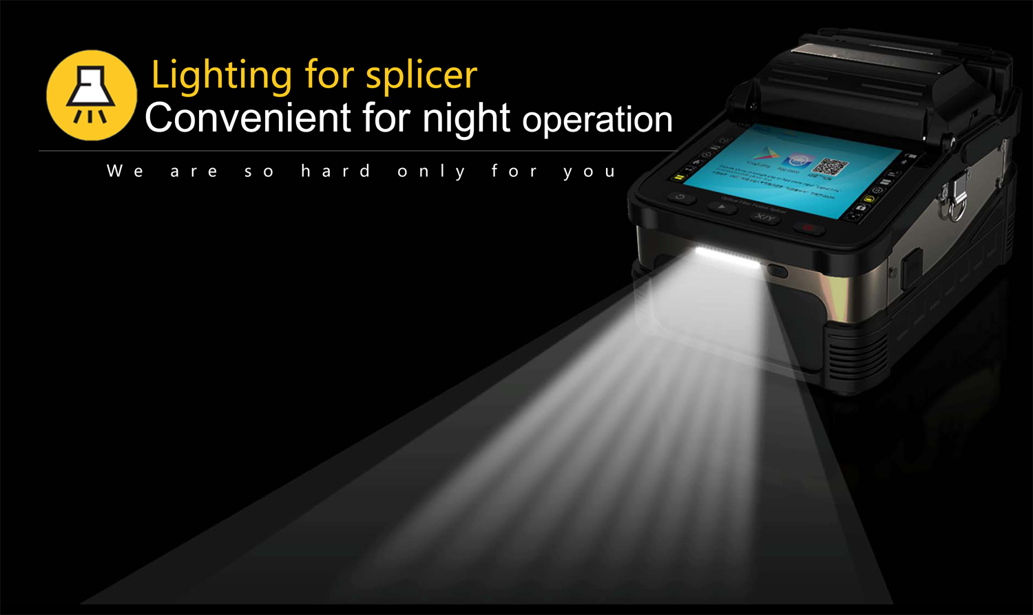 Fiber Optic Cable Fusion Splicer Machine Automatic 6 Second Splicing Time Optical Fusion Splicer