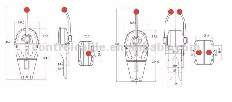 online wholesale gj1107a universal top mount marine boat single lever handle engine control box