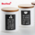 New arrival white ceramic coffee storage jars canisters with wood lid