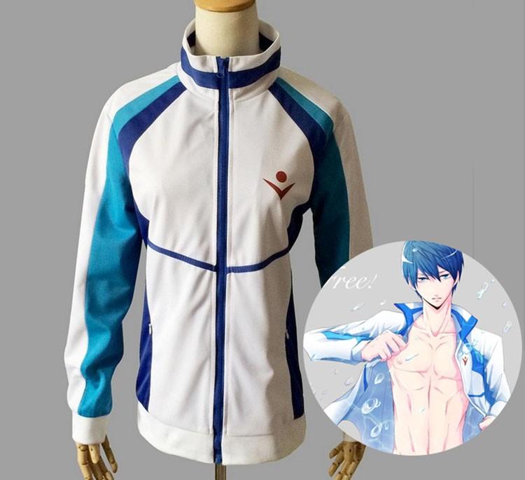Jepang Hot Populer Anime Gratis Biru Seragam Sma Mantel Seluruh Set