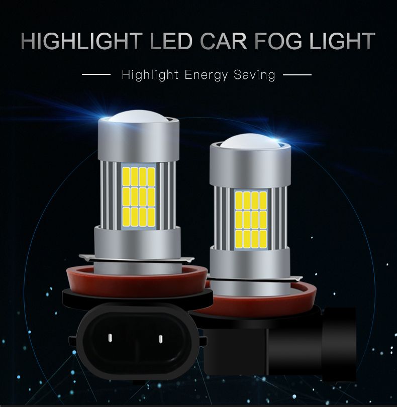Car Fog Lighting System H8/H11-54Smd-4014 Led Light Bulb