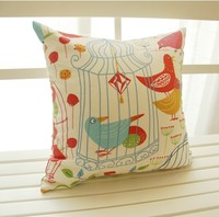 100% cotton printed cushion cover of birds