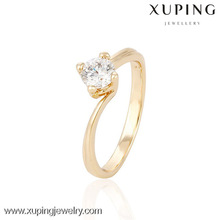 13995 Xuping adjustable wedding rings for women, gold plated stackable women fancy rings