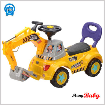kids excavators toy baby push car kids ride on car without power