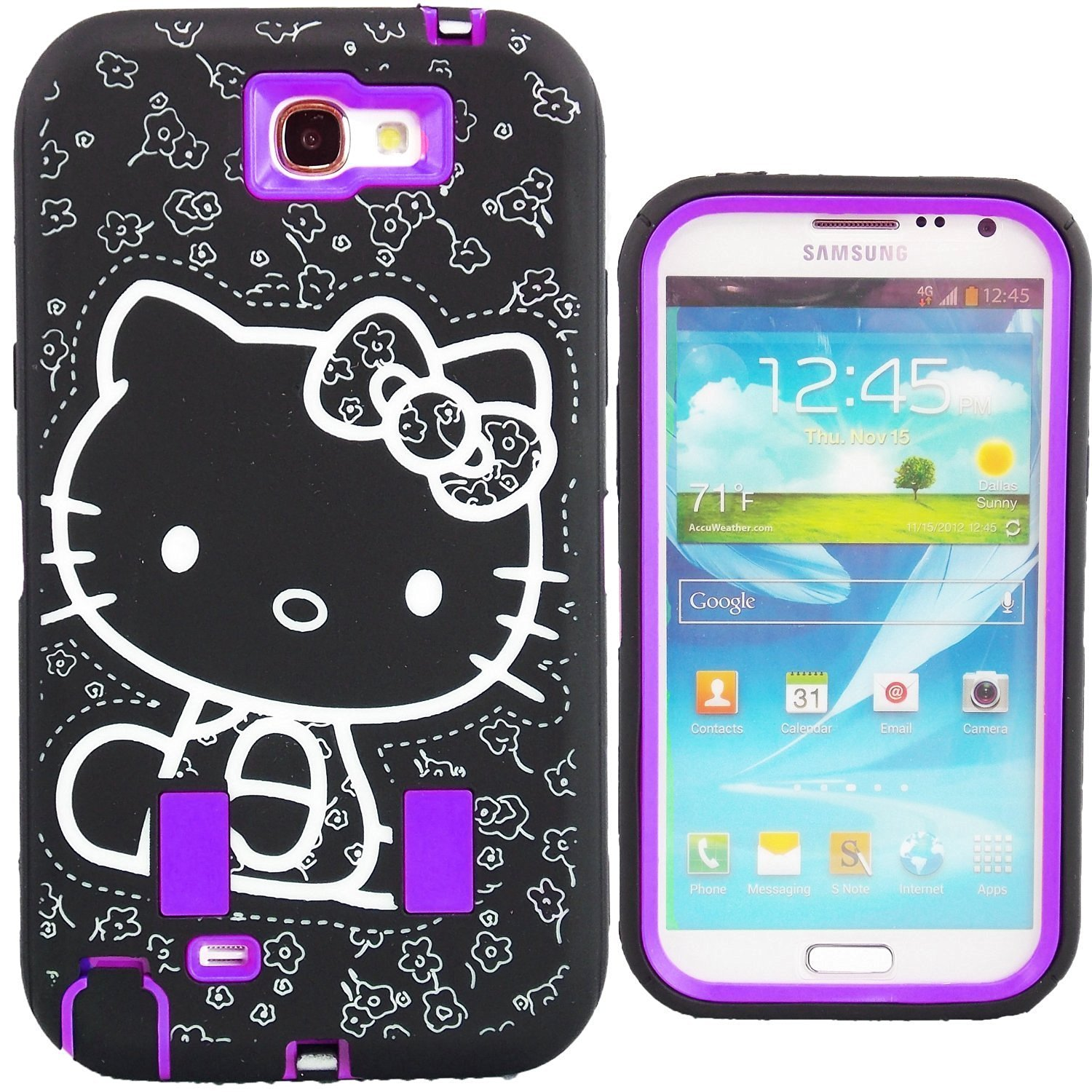 new concept a1631 fc14e Buy Hello Kitty Shockproof Case for Samsung Galaxy Note 2 Built-In ...