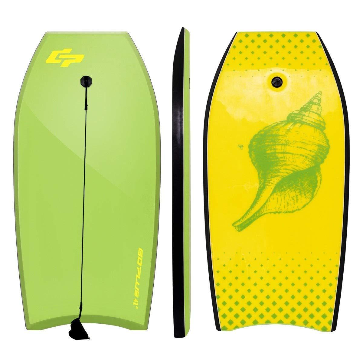 "BeUniqueToday 42"" Lightweight Super Bodyboard Surfing w/Leash IXPE Deck EPS Core Boarding, Durable and Buoyant Bodyboard Surfing w/Leash IXPE Deck EPS Core Boarding, 42"" Lightweight Super Bodyboard"