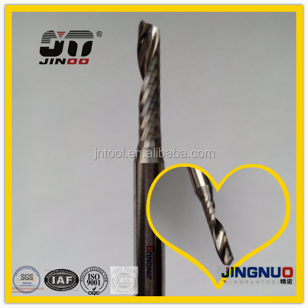 JINOO High Performance cnc quality end mills carbide tungsten 1 flute end mill 1mm