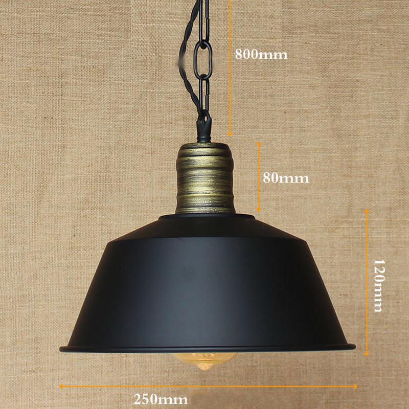 Retro Metal Shade Pendant Lamps Illumination Kitchen Bar