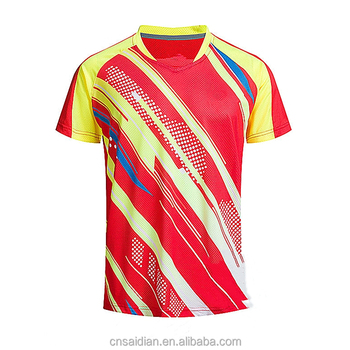 2c86e41a4 Full sublimation printing badminton jersey design,custom wholesale dry fit  badminton shirt