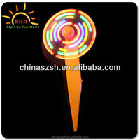 Cool mini plastic fan pen, super novelty led flashing fan with pen