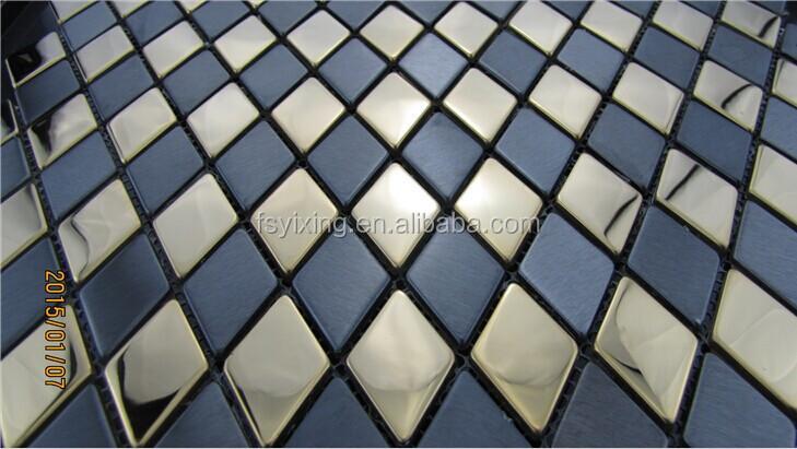 mi38 mischfarbe rautenform fliesen aus edelstahl backsplashes china metall mosaik fliesen. Black Bedroom Furniture Sets. Home Design Ideas