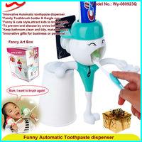China manufacturer toothpaste dispenser plastic bathroom accessories