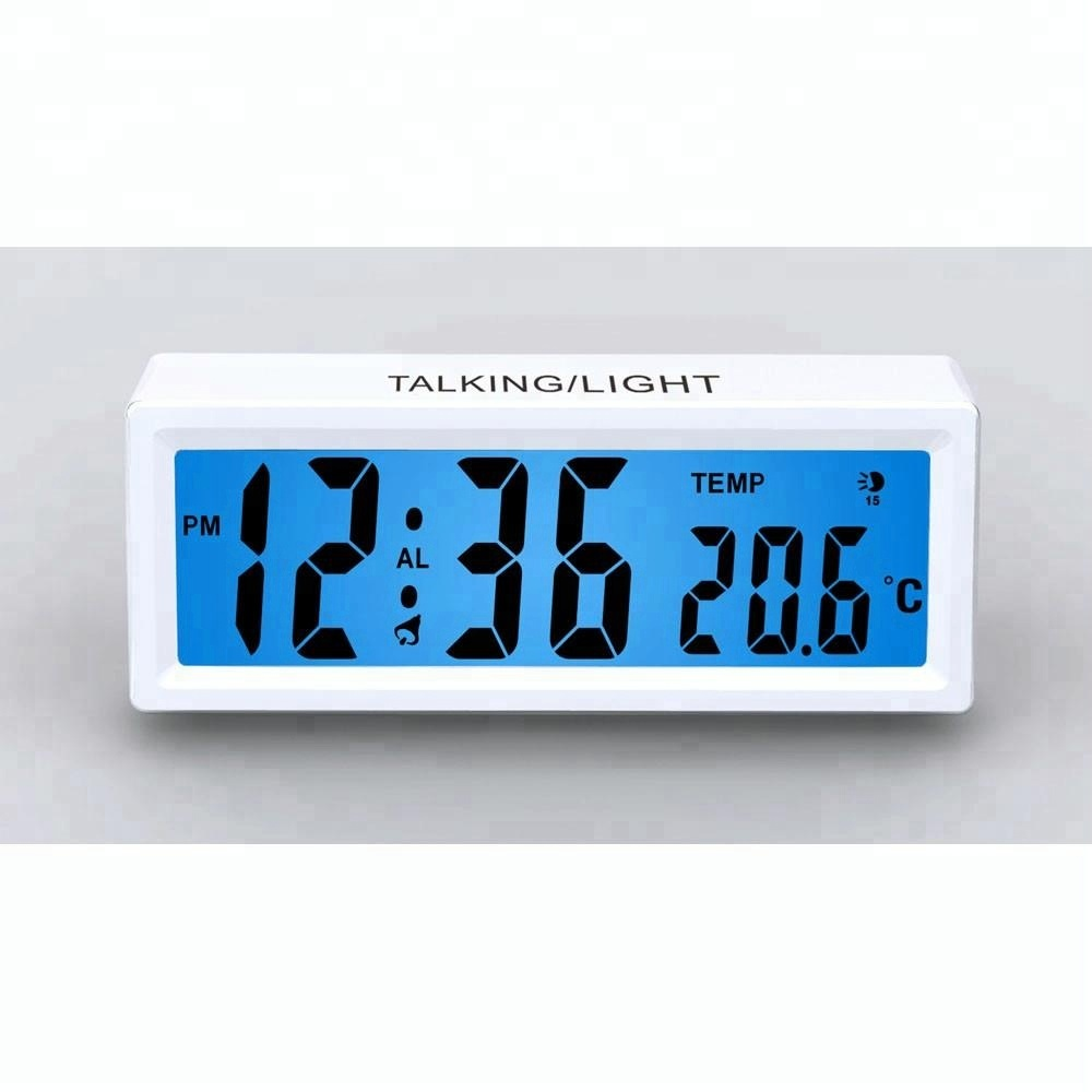 Temperatura Display Si Illumina Parlando Desk Alarm Clock