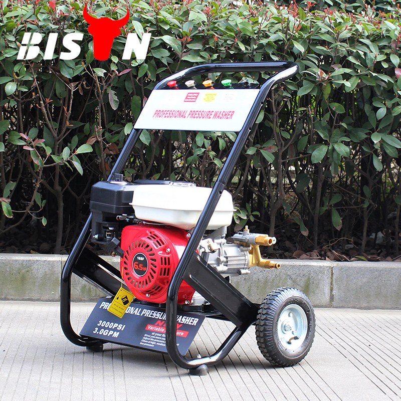 BISON(CHINA) BS170A 150Bar Water Jet Clean Gasoline Engine Pressure Washer For Home