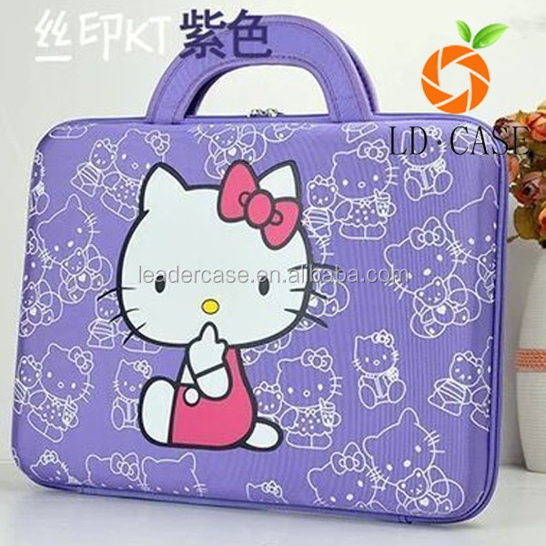 371063d147 Lovely Hello Kitty Printed Antifriction Cut Style Laptop Sleeve Bags ...
