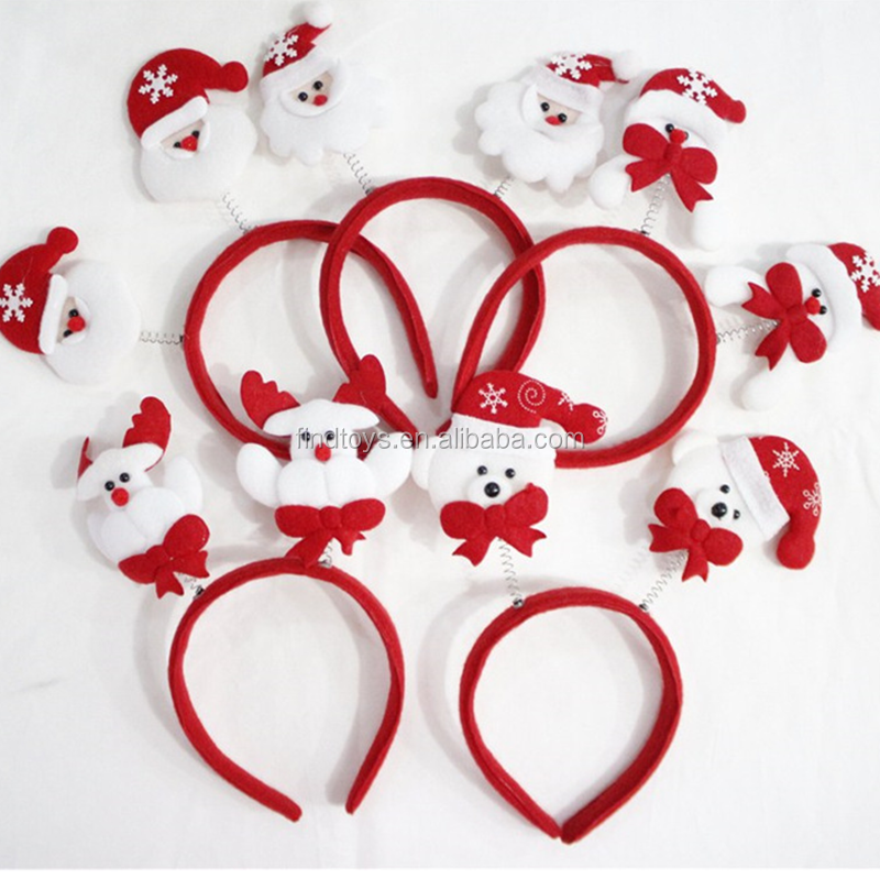 Hot sale led christmas headwear led flashing santa claus headband for party
