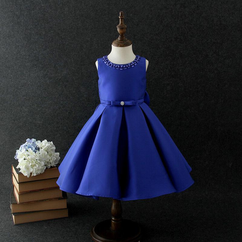 2018 Niños Niñas Azul Vestido De Elegante Vestido Desfile Niños Boda Nupcial Formal Vestido De Fiesta 2 10 Años Buy Faldas Formales Diseñosúltimo