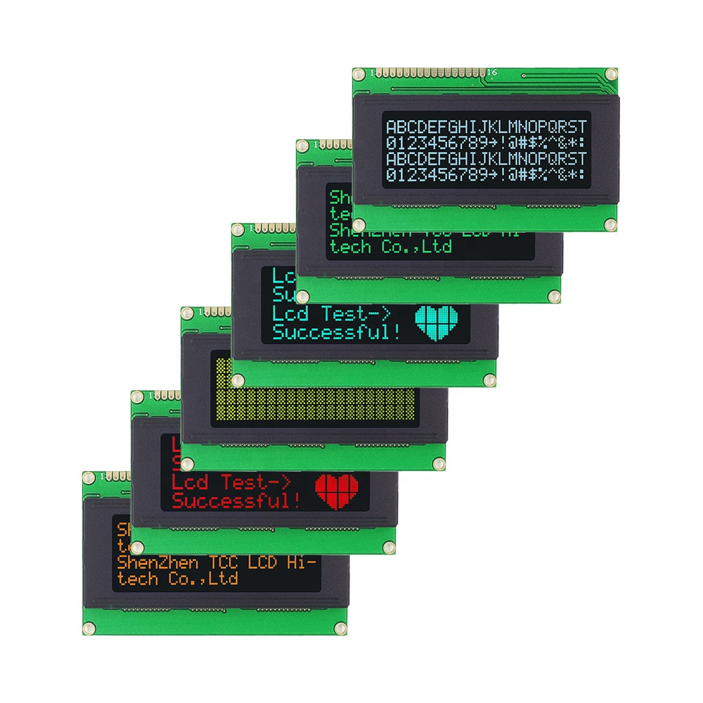 TCC(2004A) custom character lcd oled display screen 6800 4/8-bit parallel SPI 3/4-wire I2C serial module lcd display 20x4