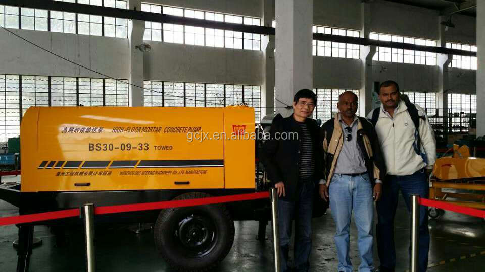 BSR20-05-56 small diesel stationary concrete pump to high building