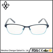 Latest product attractive style wide temple metal optical frames with good offer