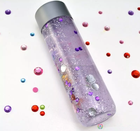 10oz 300ml cylinder voss style craft gift packing glass bottle with fancy design print wholesale