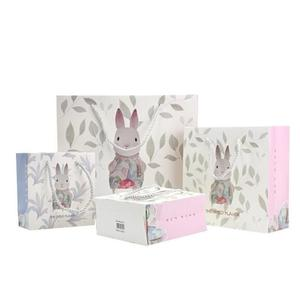 Manufacturer Custom Bunny Easter Day Favor Paper Gift Candy Bag For Child