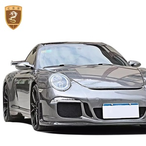 Fiberglass Material Body Kits Include Tail Lights Wing Spoiler Car Front Bumper Suitable For Porsche 911 997 Upgrade 991 GT