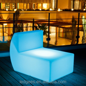Color changing LED sofa set mid century modern furniture