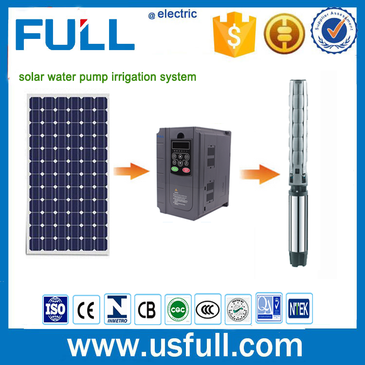 New Green energy 24 hours work MPPT function submersible solar water pump system for agriculture