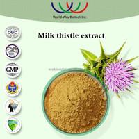 Natural liver protection silybinin milk thistle extract powder,bulk stock factory supply 80% UV silymarin/milk thistle extract