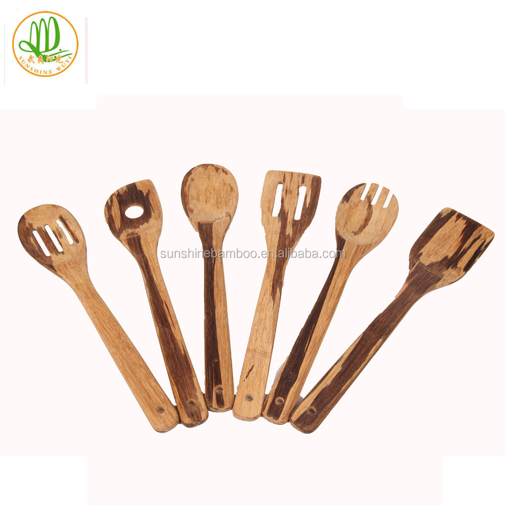 Heavy And Crush Bamboo 6 Cooking Tools Kitchen Utensils Sets Bamboo ...