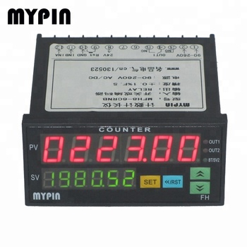MYPIN 48*96mm size Dual Line 6 Digital LED Display Counter meter