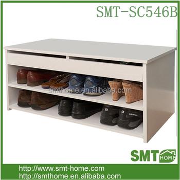 Beau Shoe Storage Bench Cubby Organizer Shelf Cabinet With Seat Cushion For  Foyer Closet Entryway Ottoman