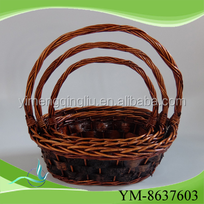 2016 New woven willow gift basket knitting willow gift basket