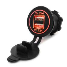 Новые аксессуары для автомобиля разветвитель гнезда прикуривателя 12 в-24 в 2 порта USB Автомобильное зарядное устройство 5 В 4.2A выход со светод...(China)