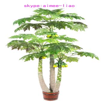 q082607 ornamental artificial indoor plants artificial papaya bonsai Artificial House Plants and Trees