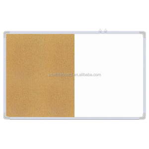 magnetic aluminum frame whiteboard and cork board combination