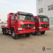 300hp 6*4 sinotruk howo cama <span class=keywords><strong>plana</strong></span> camión <span class=keywords><strong>volquete</strong></span> 40ton